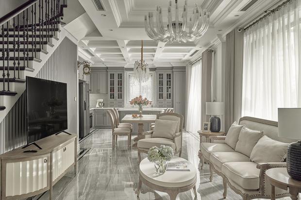Chán chung cư, mẹ Hà Nội chi 2,5 tỷ sửa nhà Vinhomes, đo ni đóng giày nội thất theo phong cách Traditional chất như phim Mỹ - Ảnh 2.