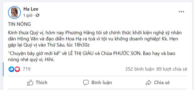 Toàn cảnh drama bà Phương Hằng và dàn sao Vbiz: Mỗi ngày đều réo tên NS Hoài Linh, đòi kiện Hồng Vân, khiến cả showbiz dậy sóng - Ảnh 14.