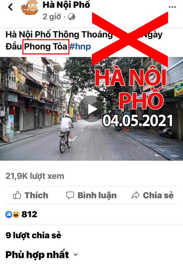 Chia sẻ thông tin Thủ đô bị phong toả ngày 4/5/2021, Duy Nến - chủ nhân kênh Hà Nội Phố bị phản đối dữ dội vì đưa nội dung sai lệch - Ảnh 1.