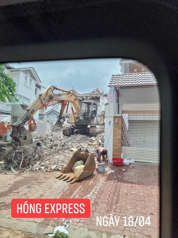 """Thuỷ Tiên bất ngờ bị tung bằng chứng nghi vấn """"lươn lẹo"""": Thông báo sửa nhà nhưng đập đi xây lại căn biệt thự 80 tỷ? - Ảnh 5."""