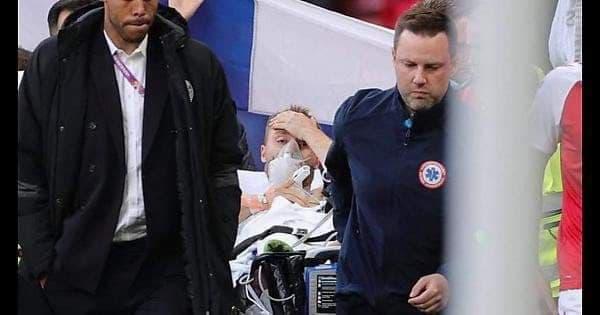 SỐC: Christian Eriksen bỗng dưng ngã gục, phải hô hấp tim ngay trên sân - Ảnh 5.