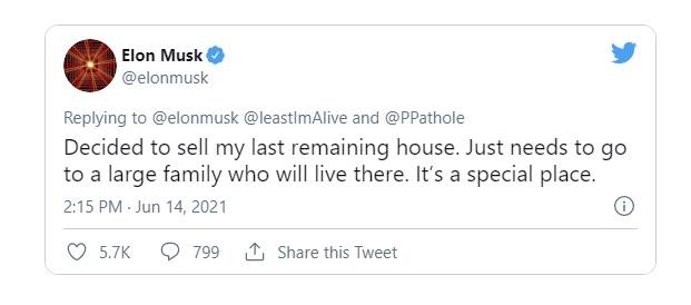 Elon Musk rao bán căn nhà cuối cùng, quyết sống đời ở thuê - Ảnh 1.