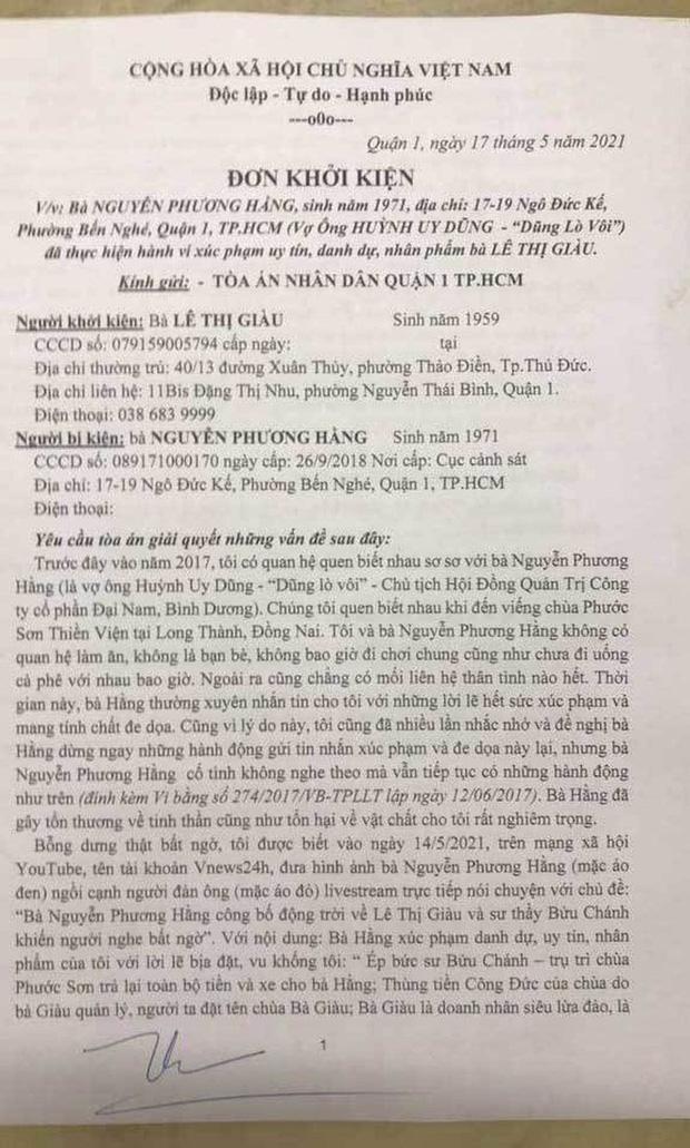 Vụ doanh nhân Lê Thị Giàu kiện đòi bà Phương Hằng bồi thường 1.000 tỷ đồng: Liệu sẽ đòi được bao nhiêu? - Ảnh 3.