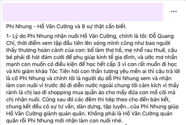 Quản lý của Ngô Kiến Huy công khai bênh vực Phi Nhung và làm rõ 8 sự thật bị bóp méo: Các bạn đừng đánh tráo khái niệm nhờ giữ tiền giùm và bị buộc không được cầm tiền - Ảnh 1.