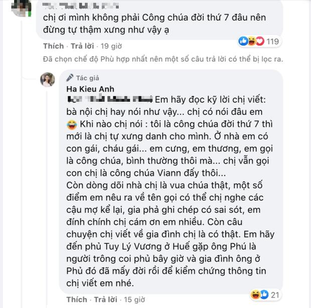 Hoa hậu Hà Kiều Anh đáp trả 1 tràng khi bị netizen thắc mắc về drama tự nhận là công chúa đời thứ 7 triều Nguyễn - Ảnh 1.