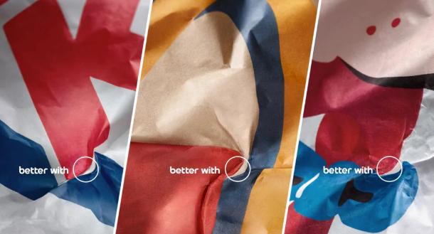 Marketing nhiều não như Pepsi: Chỉ ra logo của mình trên giấy gói của những chuỗi đồ ăn nói không với Pepsi - Ảnh 1.