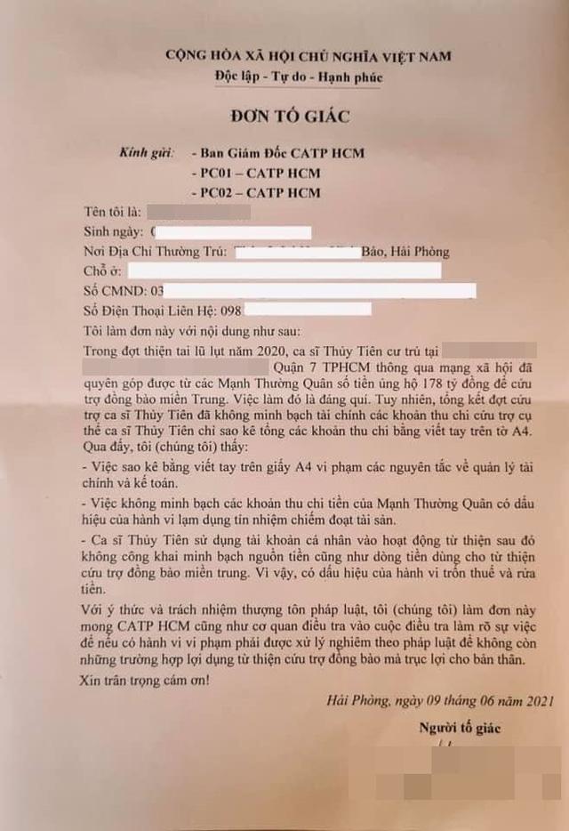 Thủy Tiên phản hồi khi bị tố giác không minh bạch 178 tỷ đồng từ thiện miền Trung - Ảnh 1.