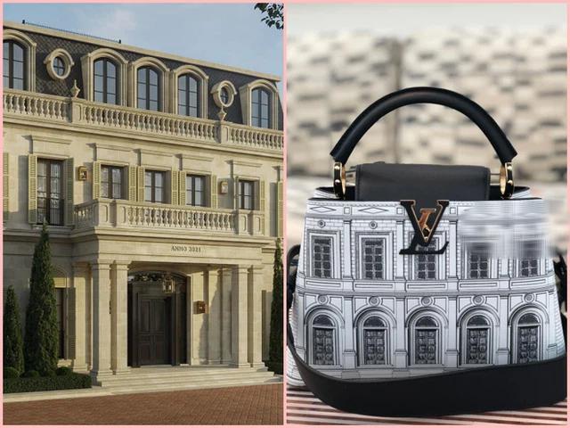 Phát hiện Louis Vuitton có túi mới in hình giống biệt thự Thái Công thiết kế cho mình, nữ đại gia xây lâu đài 400 tỷ đồng chốt đơn luôn? - Ảnh 4.