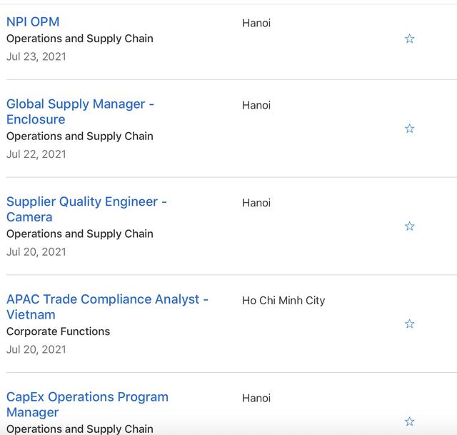 Tuyển dụng hàng loạt vị trí quản lý tại Việt Nam, Apple toan tính điều gì?  - Ảnh 1.