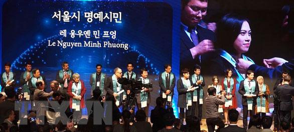 (Mai) Vừa nghiên cứu sinh, vừa làm MC cho đài KBS, phiên dịch viên cho Samsung, LG,... cô gái 8X này là người Việt đầu tiên được ghi nhận là công dân gương mẫu Seoul - Ảnh 2.