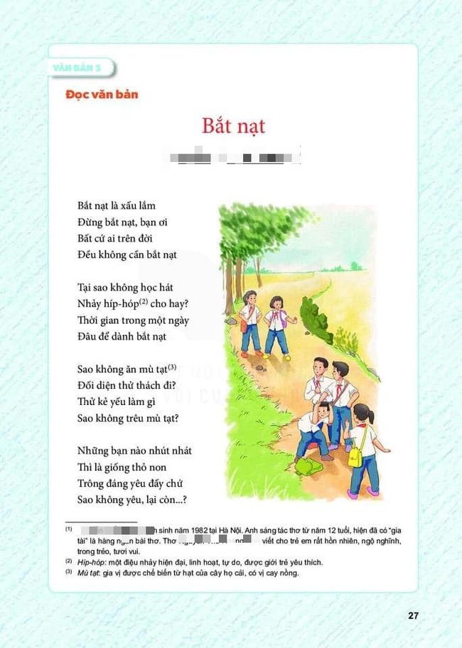 Bài thơ trong SGK lớp 6 gây tranh cãi, tác giả lên tiếng: Ai chứng minh đây là bài thơ dở xứng đáng được trao giải Nobel Văn học - Ảnh 1.