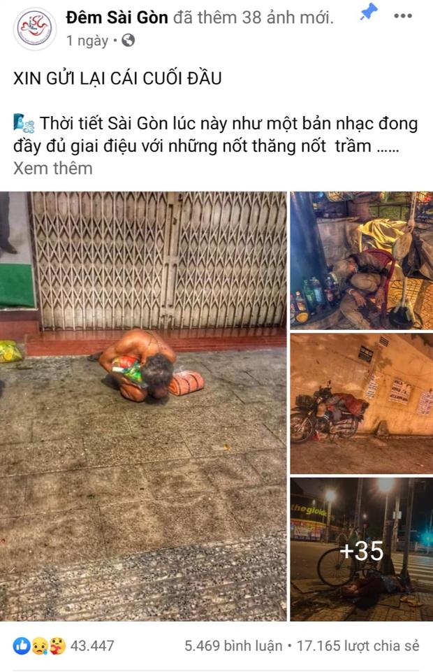 Bộ ảnh về người vô gia cư lay lắt trong đêm Sài Gòn giãn cách và những điều ấm áp nhỏ bé khiến ai cũng rưng rưng - Ảnh 1.