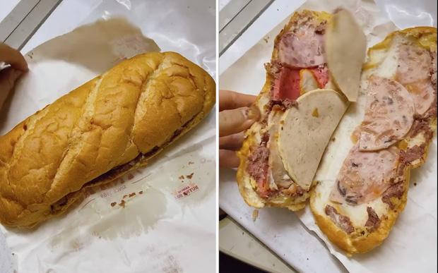 Review bánh mì xịn nhất Sài Gòn giá 110k/ổ của một vị khách: Mở ra hết hồn vì nhìn như đôi dép? - Ảnh 2.