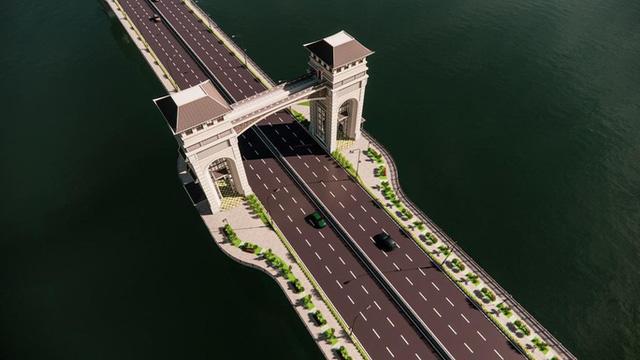 Cận cảnh phong cách Đông Dương cầu Trần Hưng Đạo gần 9.000 tỉ đồng - Ảnh 11.