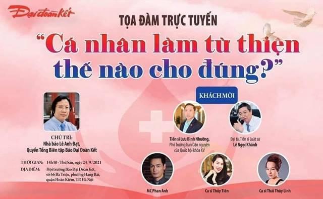 Thủy Tiên, MC Phan Anh tham gia bàn luận về vấn đề Cá nhân làm từ thiện thế nào cho đúng? - Ảnh 5.