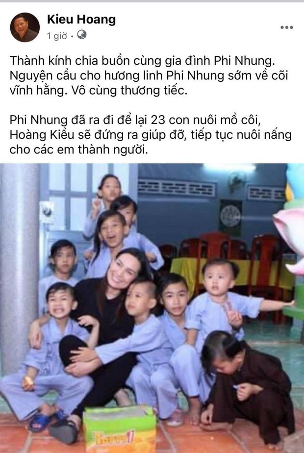 Doanh nhân Hoàng Kiều thông báo sẽ thay Phi Nhung nuôi 23 đứa trẻ mồ côi và khẳng định: Sẽ tiếp tục dạy dỗ cho các em thành người - Ảnh 1.