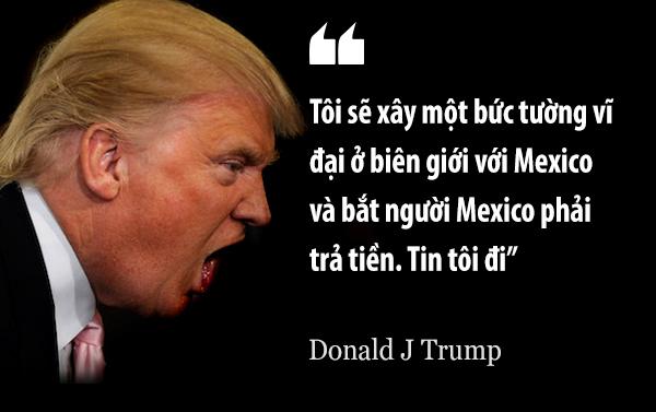 Và đây là giải pháp nực cười mà Trump đưa ra. Một số người gọi đây là bức tường ngu ngốc.