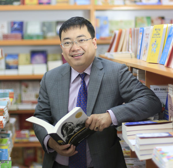 Ông Nguyễn Cảnh Bình – CEO Alpha Books. Ảnh: Sài Gòn Giải phóng.