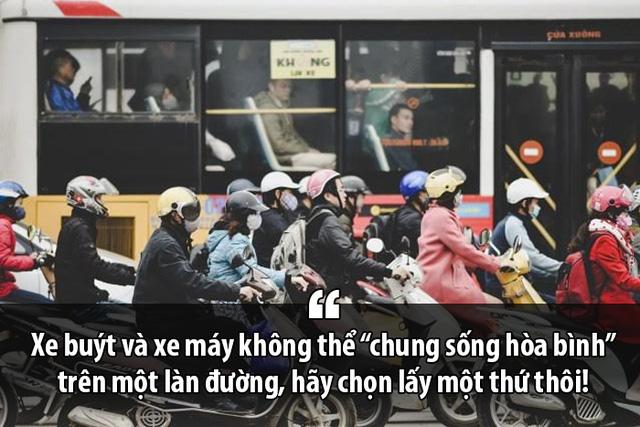 Tiến sĩ Lương Hoài Nam: Xe buýt và xe máy không thể chung sống hòa bình trên một làn đường, hãy chọn một thứ thôi! - Ảnh 1.