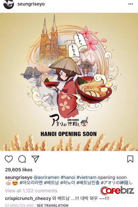 Thành viên nhóm nhạc Bigbang xác nhận sắp mở nhà hàng mì Nhật tại Hà Nội, có thể hợp tác với con trai ông chủ Tân Hoàng Minh - Ảnh 1.