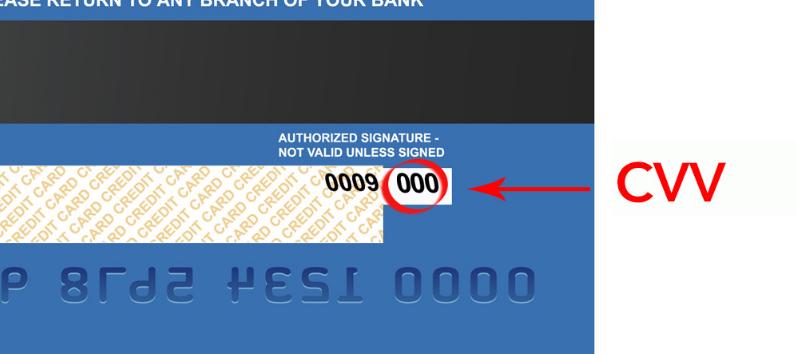 how to find cvv2 number on a debit card
