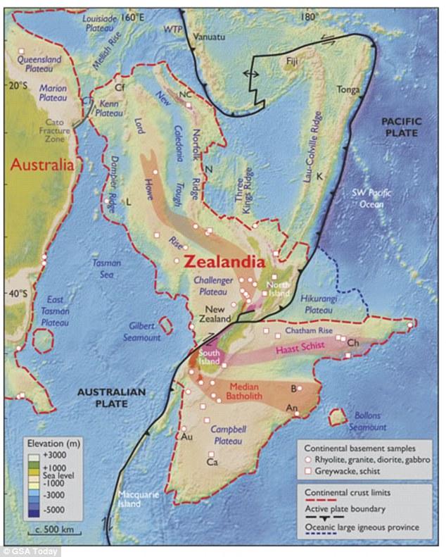 Vị trí của Zealandia