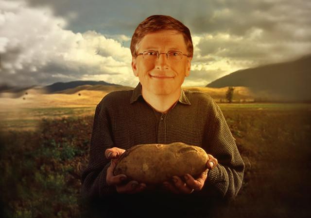 Bill Gates the Potato Farmer