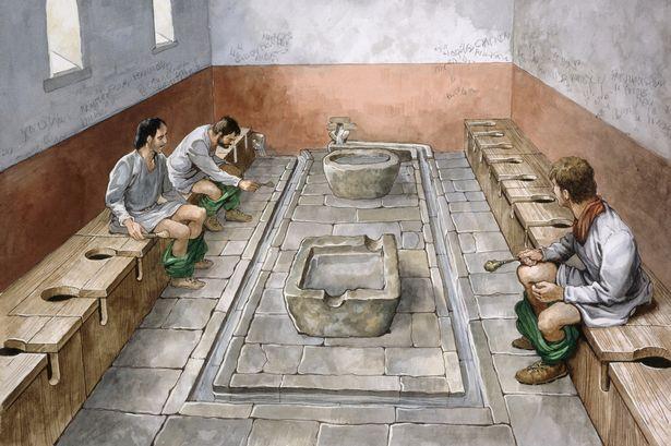 Một hệ thống nhà vệ sinh công cộng thời La Mã