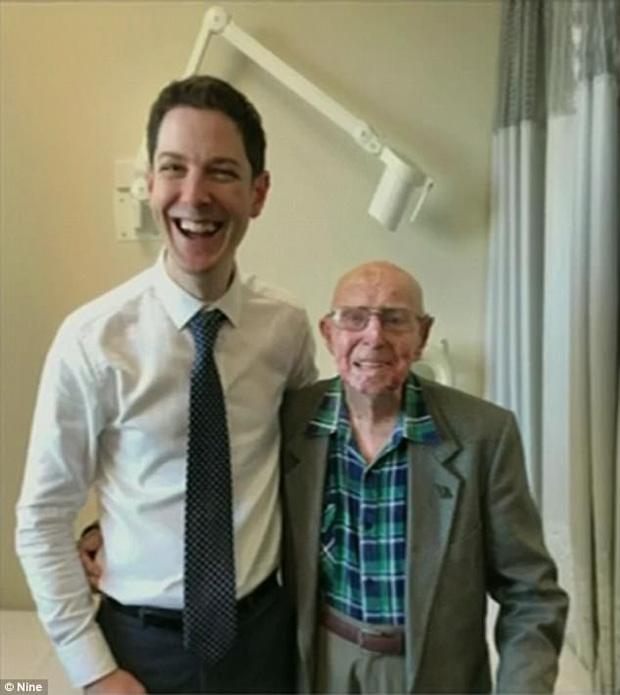 Ông Bert đã sống sót qua căn bệnh ung thư quái ác ở tuổi 101.