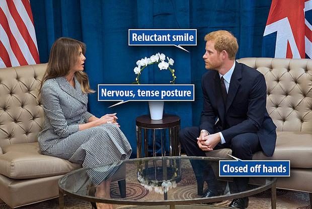 Chuyên gia ngôn ngữ cơ thể chỉ ra sự khác biệt trong cách nói chuyện của Hoàng tử Anh với bà Melania Trump và bà Michelle Obama - Ảnh 1.