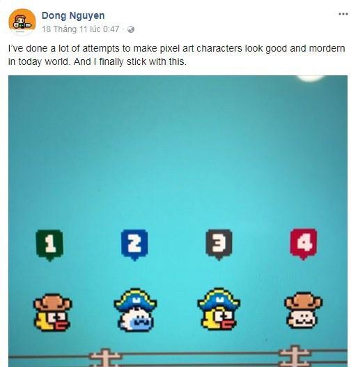 Dòng trạng thái đầy ẩn ý của Nguyễn Hà Đông cùng với bức ảnh về diện mạo mới của chú chim đập cánh trong Flappy Bird
