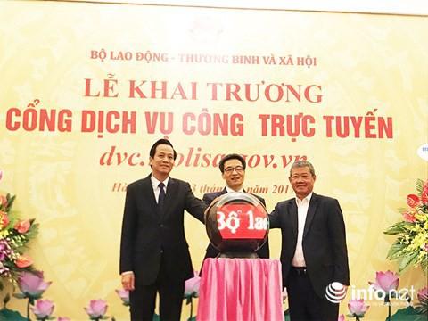 Khai trương Cổng dịch vụ công trực tuyến Bộ LĐ-TB&XH - Ảnh 1.