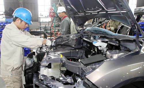 Hiện, chi phí lắp ráp ô tô của Việt Nam đang cao hơn các nước khác khoảng 20%. Ảnh minh họa