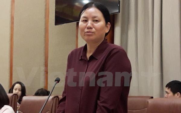 Bà Nguyễn Thị Yến - Phó trưởng Ban Dược và vật tư y tế (Bảo hiểm xã hội Việt Nam). (Ảnh: T.G/Vietnam+)