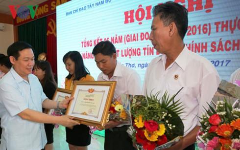 Phó Thủ tướng Vương Đình Huệ: Cần xoá bỏ tín dụng dụng đen - Ảnh 1.