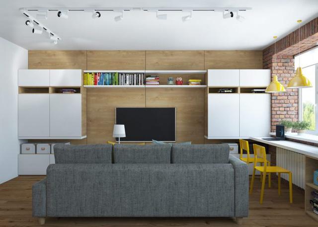 Thiết kế nội thất chất lừ của ngôi nhà ống 65m2 cho các gia đình trẻ - Ảnh 2.