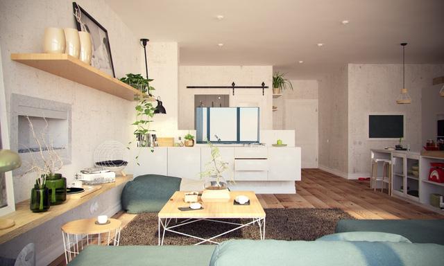 Gia đình nhỏ sống sang chảnh trong căn hộ đẹp hút hồn 100m2  - Ảnh 1.