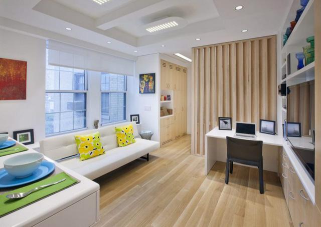 Thiết kế nội thất căn hộ 32m2 chất lừ cho gia đình trẻ - Ảnh 1.
