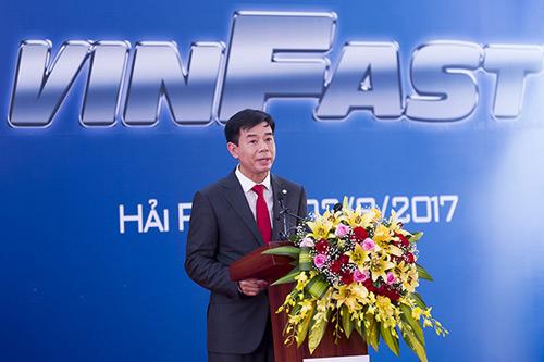 Ông Nguyễn Việt Quang, Phó chủ tịch Vingroup tại lễ khởi công dự án Vinfast