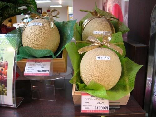 Một quả dưa Yubari có giá 10.500 yên, tương đương hơn 2 triệu đồng