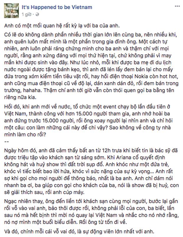 Câu chuyện về Phillip Nguyễn và ba được chia sẻ.