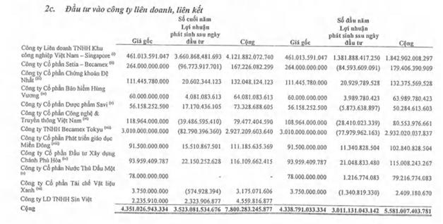 Ôm khối tài sản 2,5 tỷ USD với quỹ đất lớn nhưng lợi nhuận của Becamex lại trông chờ chủ yếu vào liên doanh VSIP - Ảnh 2.
