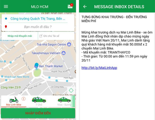 """Mai Linh tung chiêu khuyến mại như Uber, Grab trong ngày khai trương """"xe ôm công nghệ"""" - Ảnh 1."""