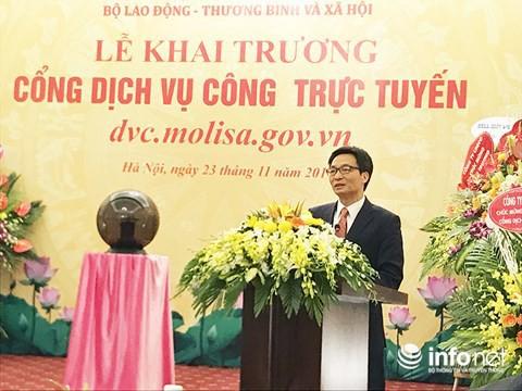 Khai trương Cổng dịch vụ công trực tuyến Bộ LĐ-TB&XH - Ảnh 2.