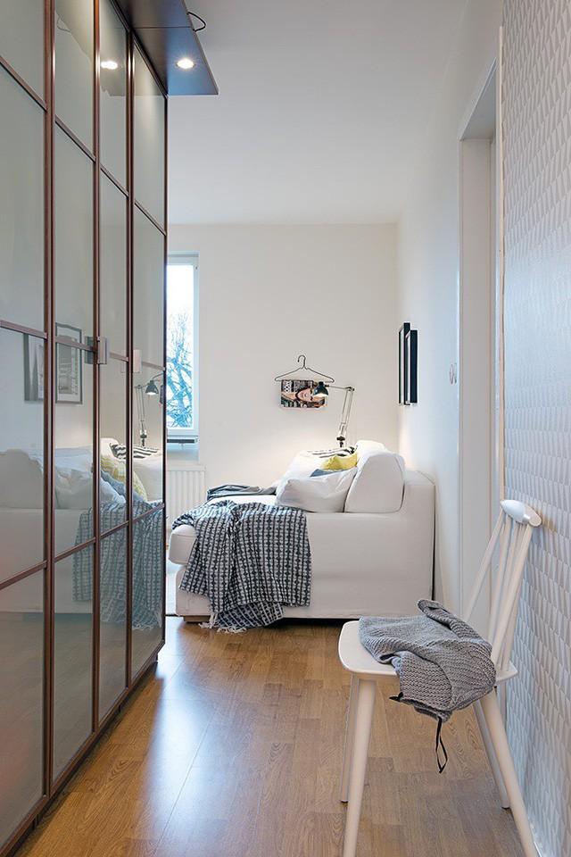 Phong cách thiết kế nội thất Bắc Âu (Scandinavia) ấn tượng trong căn hộ hơn 40m2  - Ảnh 2.