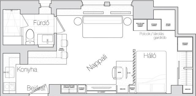 Thiết kế nội thất căn hộ 32m2 chất lừ cho gia đình trẻ - Ảnh 11.