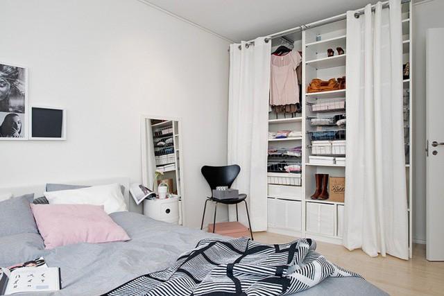 Phong cách thiết kế nội thất Bắc Âu (Scandinavia) ấn tượng trong căn hộ hơn 40m2  - Ảnh 12.