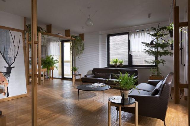 Căn hộ đẹp như mơ với cây xanh và nội thất gỗ - Ảnh 13.