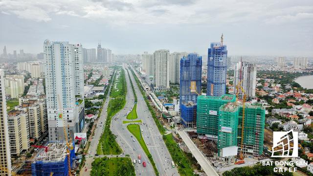 Tuyến Metro số 1 Bến Thành - Suối Tiên nhìn từ trên cao - Ảnh 14.