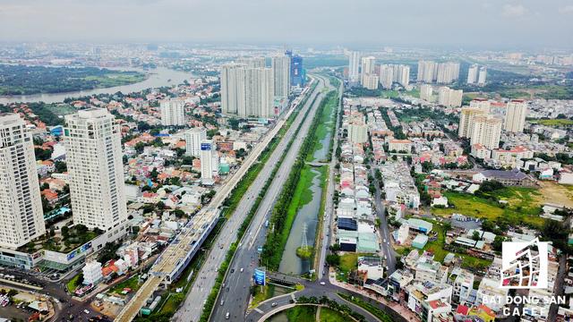 Tuyến Metro số 1 Bến Thành - Suối Tiên nhìn từ trên cao - Ảnh 16.